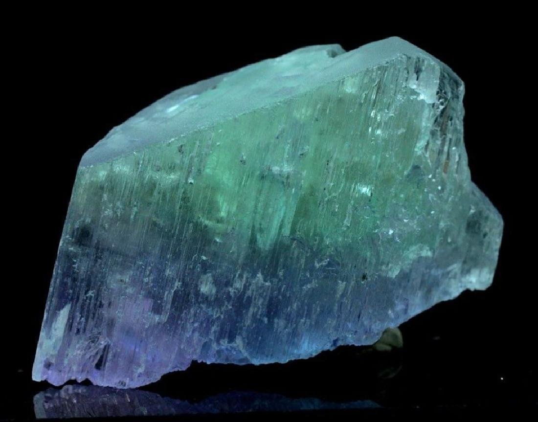 186 Gram V Shape Bi Color Natural Kunzite Crystal