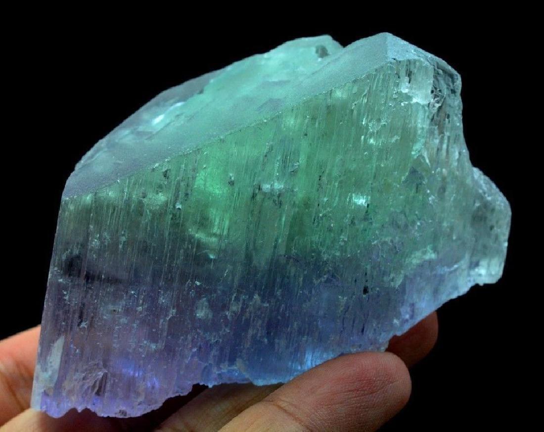 186 Gram V Shape Bi Color Natural Kunzite Crystal - 2