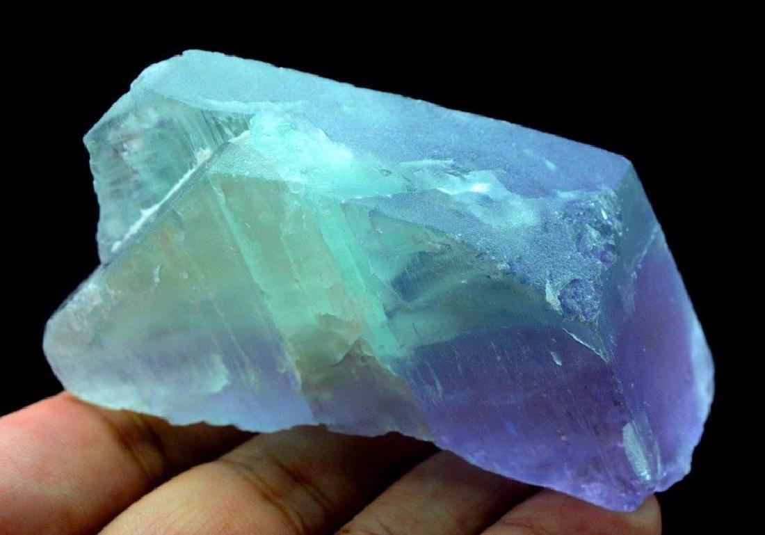 186 Gram V Shape Bi Color Natural Kunzite Crystal - 3