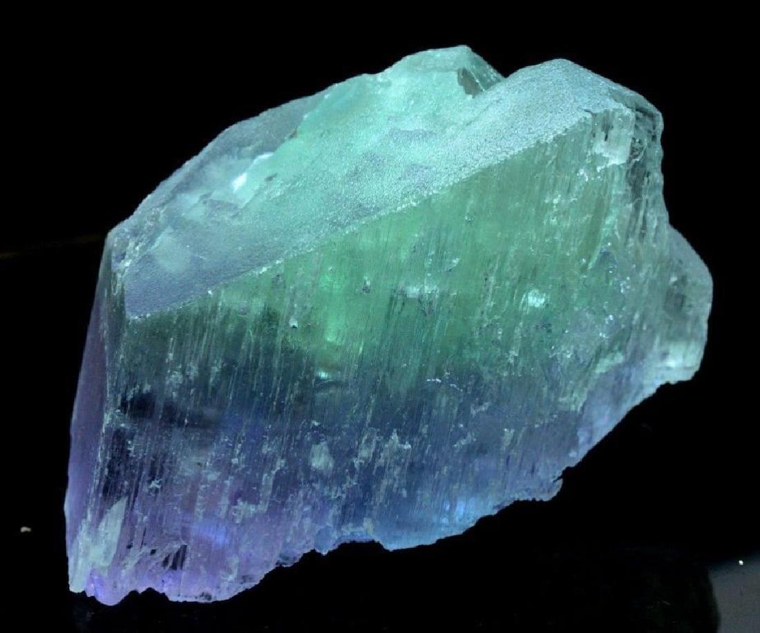 186 Gram V Shape Bi Color Natural Kunzite Crystal - 5
