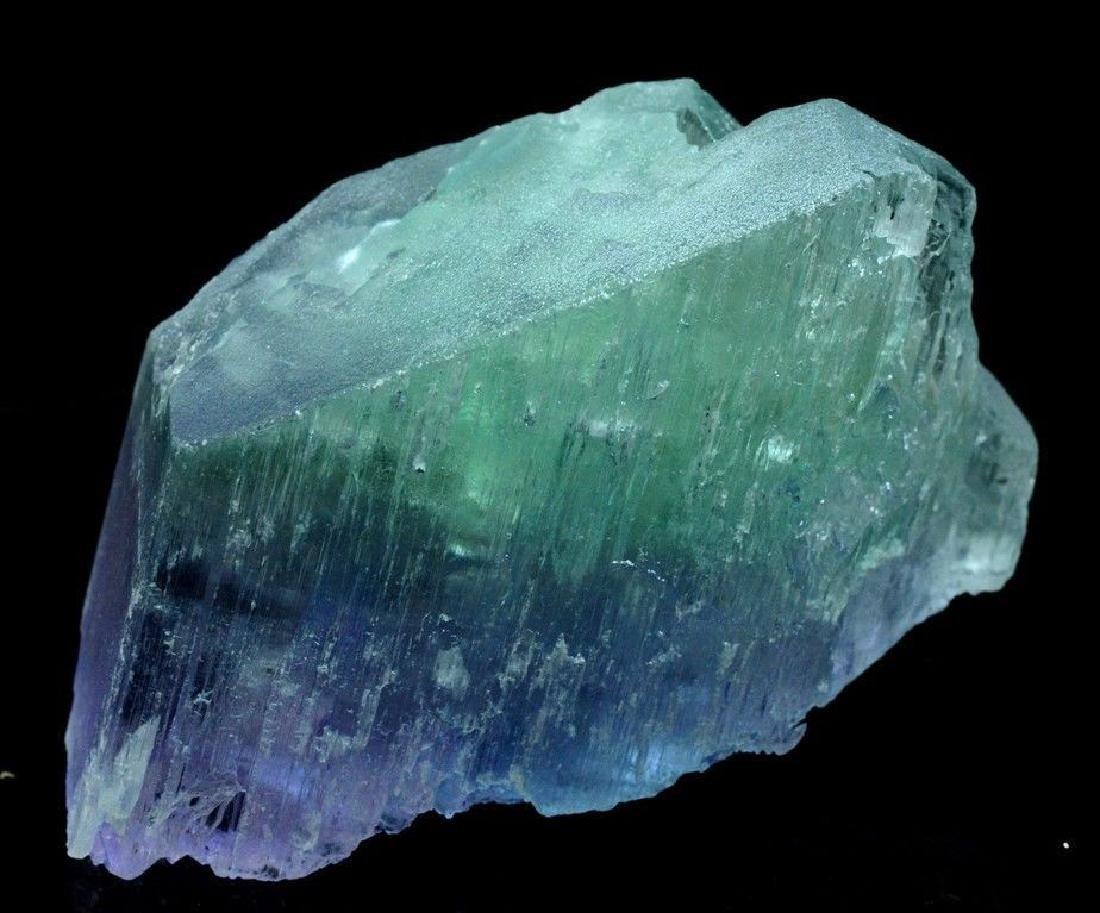 186 Gram V Shape Bi Color Natural Kunzite Crystal - 6