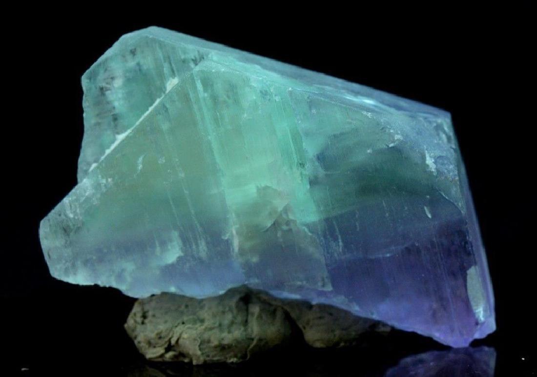 186 Gram V Shape Bi Color Natural Kunzite Crystal - 9