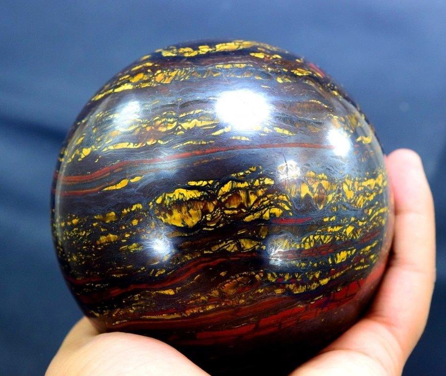 1733 Gram Multi Color Tiger Eye / Iron Stone Sphere - 4