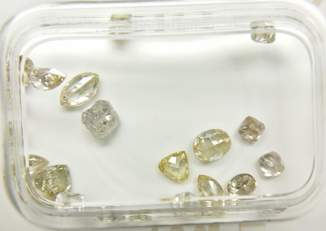 2.38 Carat Lot of 22 Loose Mixed Fancy Diamonds
