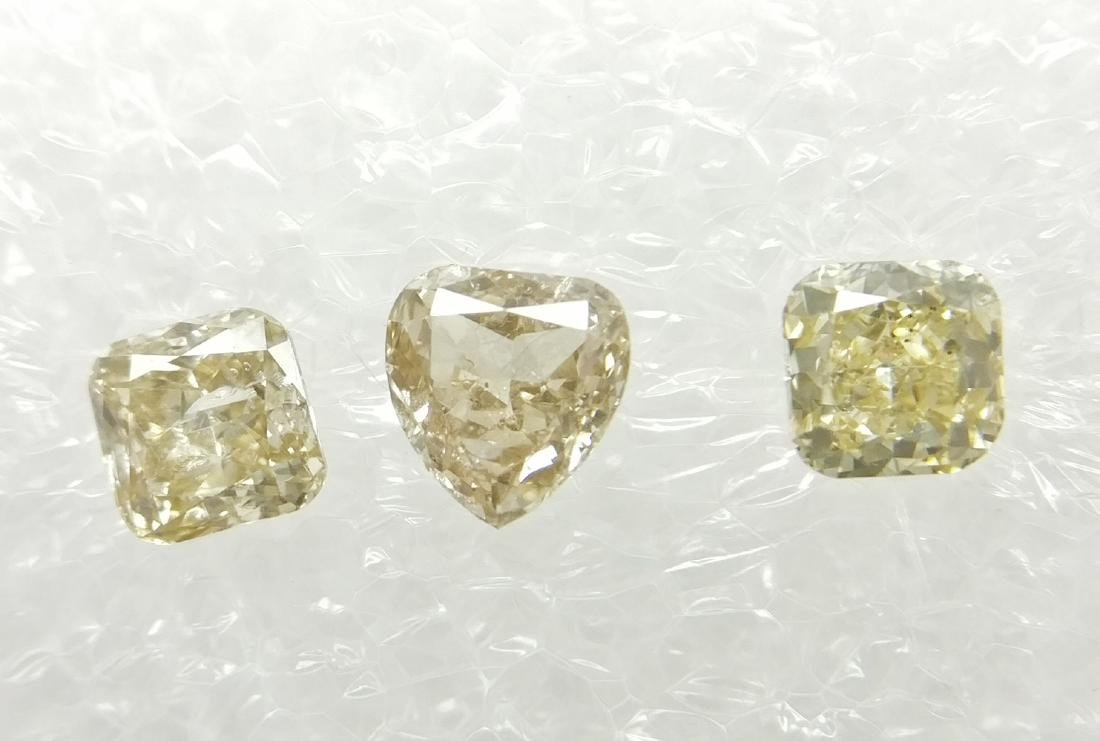 0.60 Carat Lot of 3 Loose Cushion & Heart Diamonds