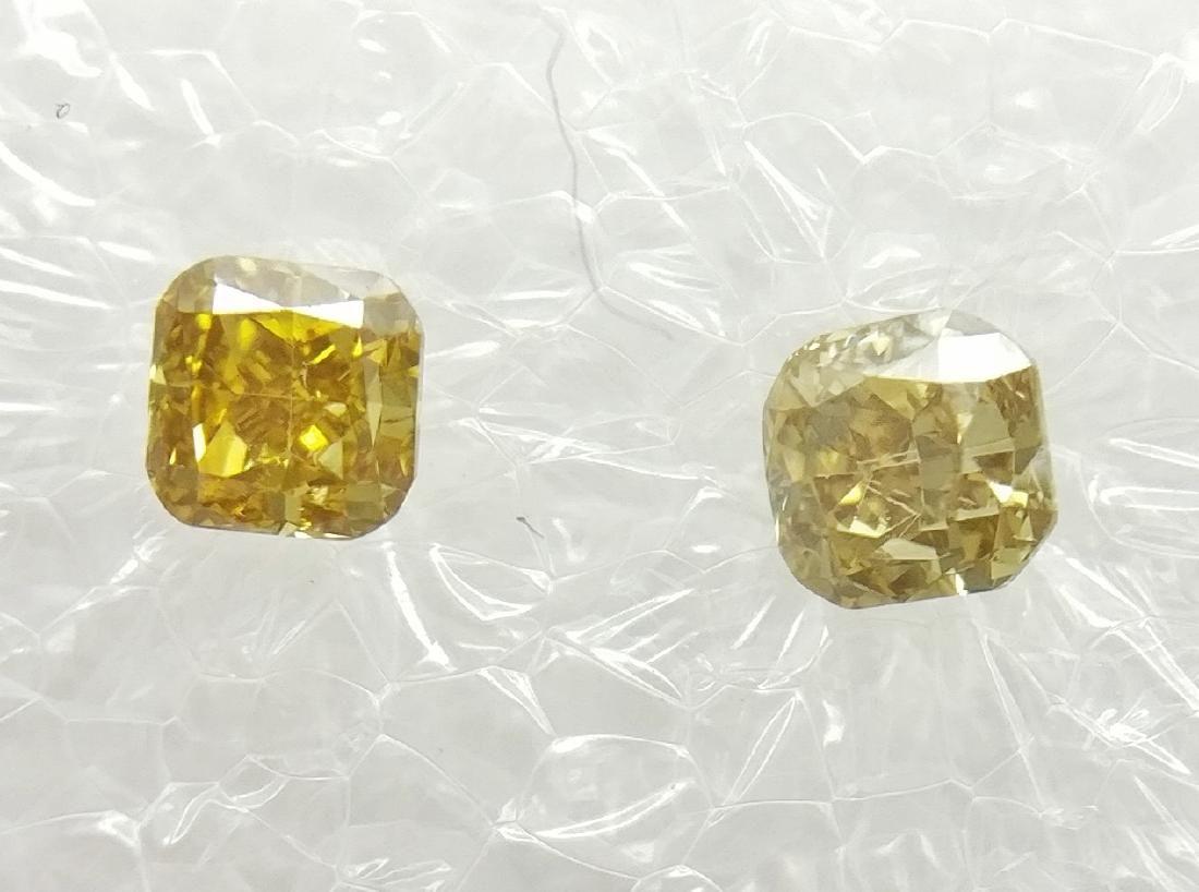0.27 Carat Lot of 2 Loose Fancy Cushion Diamonds