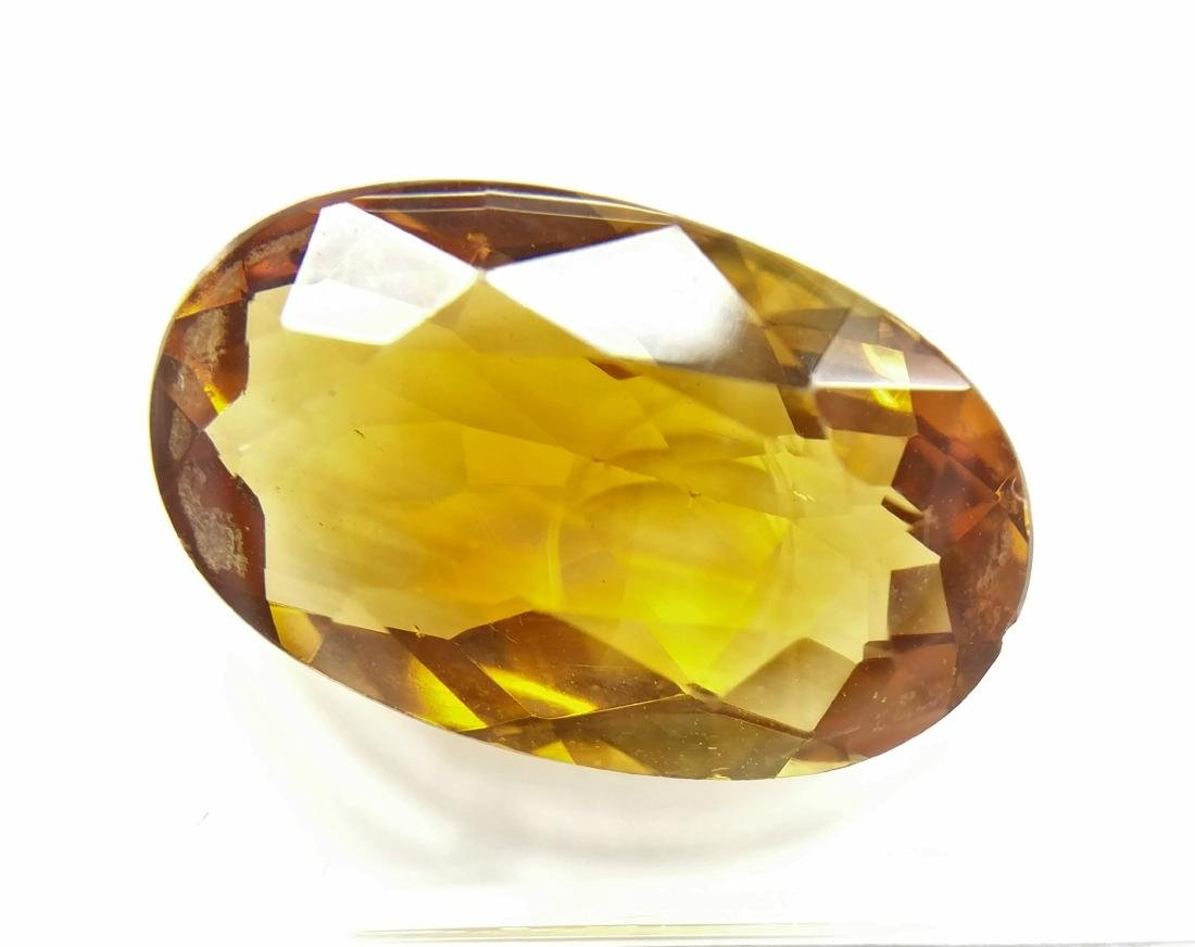 5.35 Carat Loose Vivid Orangy Yellow Citrine