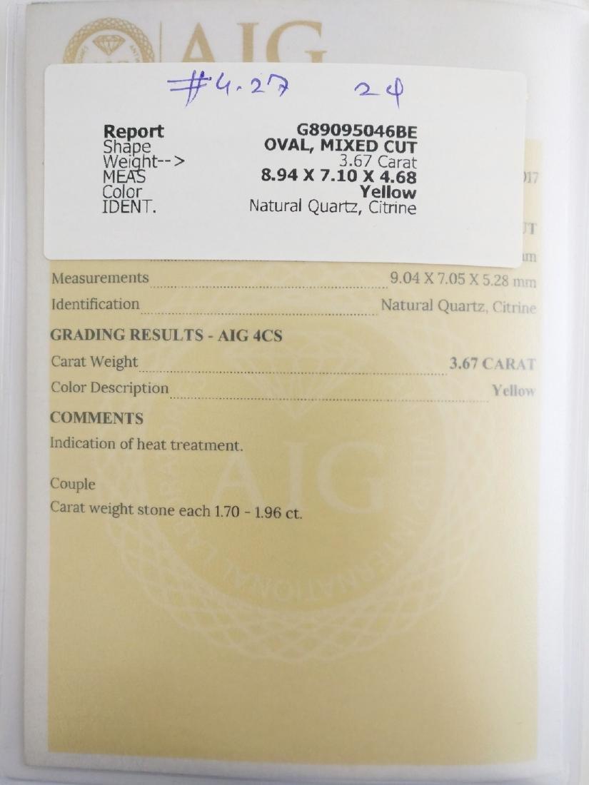 3.67 Carat Lot of Loose Citrine Yellow - 4