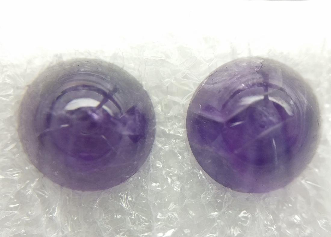 7.07 Carat Lot of Loose Amethyst Intense Purple