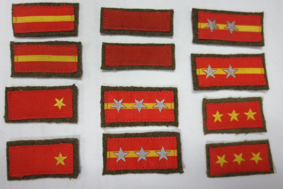 WWII Japanese Army Rank Bar Lot