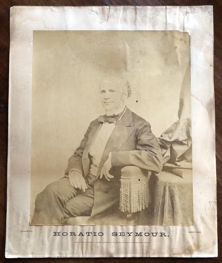 Photograph 1868 Presidential Candidate Horatio Seymour
