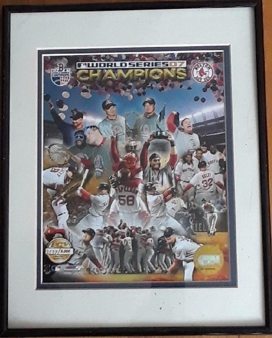 2007 Boston Red Sox World Series Champions Framed