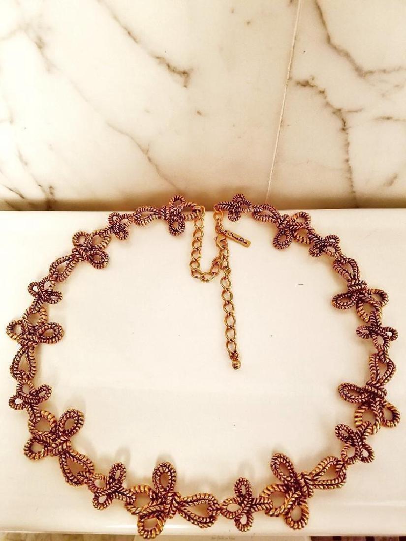 Oscar De La Renta Gold Plated 1973 Signed Link Necklace