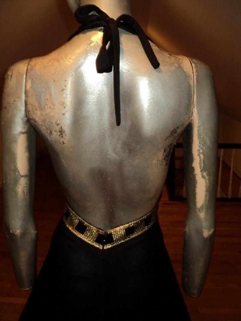 Vintage Halter Maxi Gown Studio St. Croix Empire Sash - 6