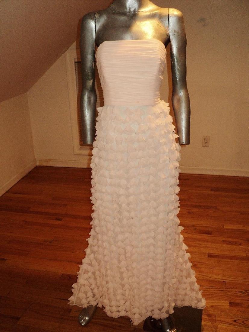 Badgley Mischka Collection Strapless Chiffon Petal Gown