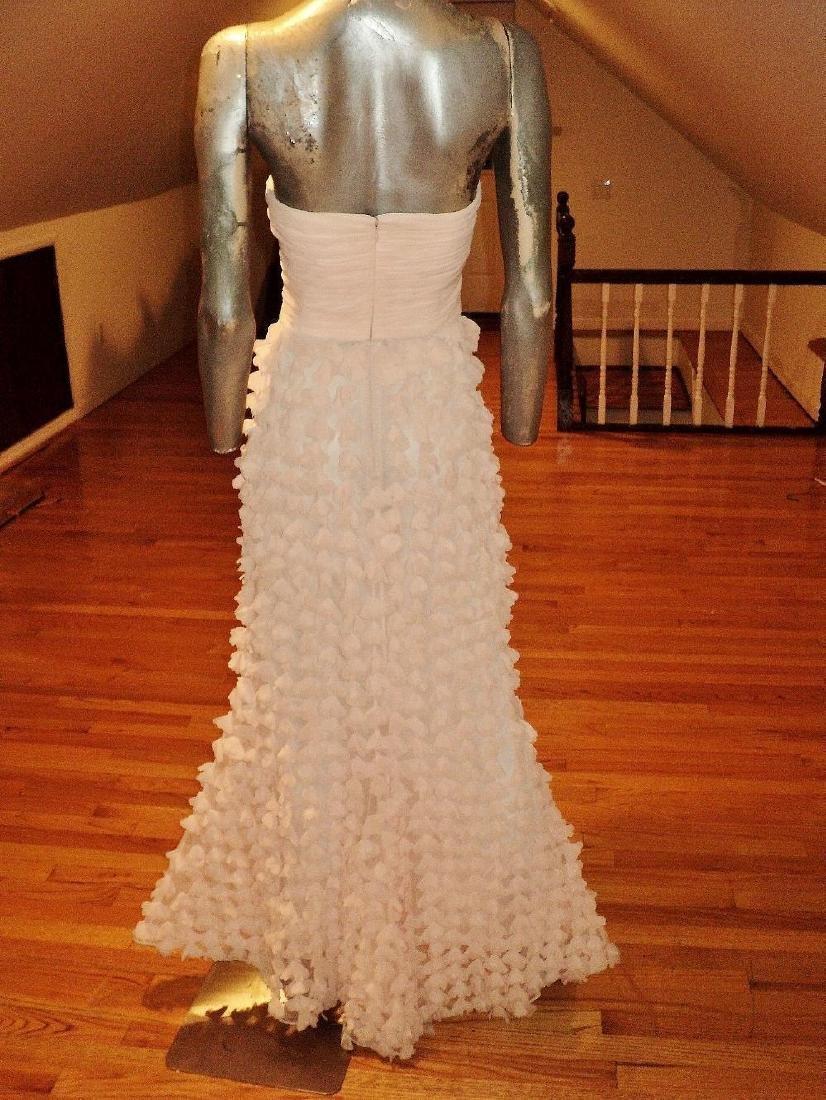 Badgley Mischka Collection Strapless Chiffon Petal Gown - 2