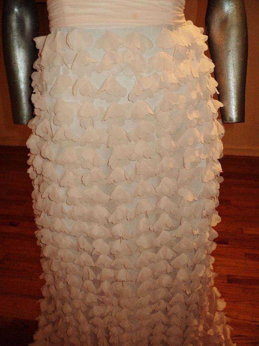 Badgley Mischka Collection Strapless Chiffon Petal Gown - 6