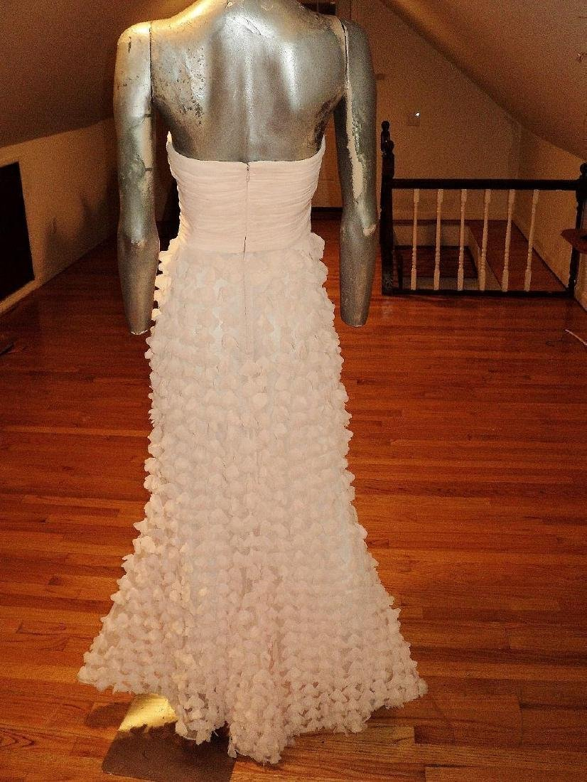 Badgley Mischka Collection Strapless Chiffon Petal Gown - 7