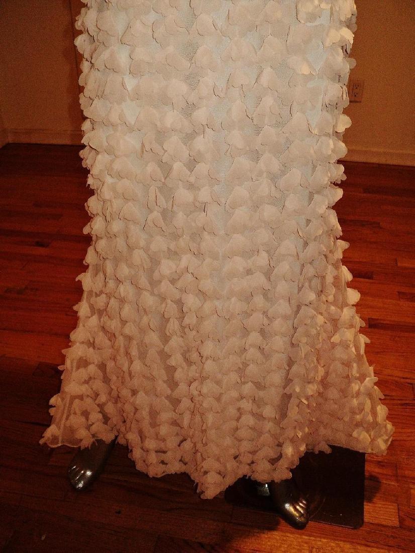 Badgley Mischka Collection Strapless Chiffon Petal Gown - 8