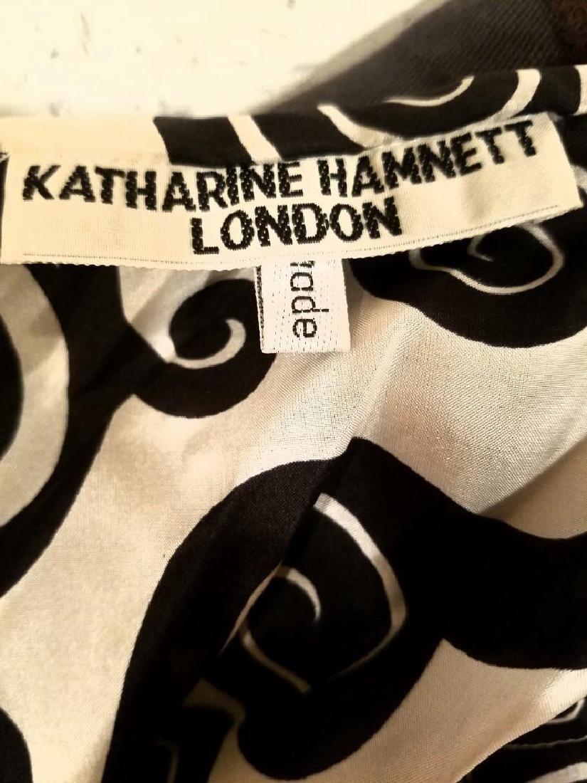 Vintage Katharine Hamnett Silk St Tropez Button Top - 2
