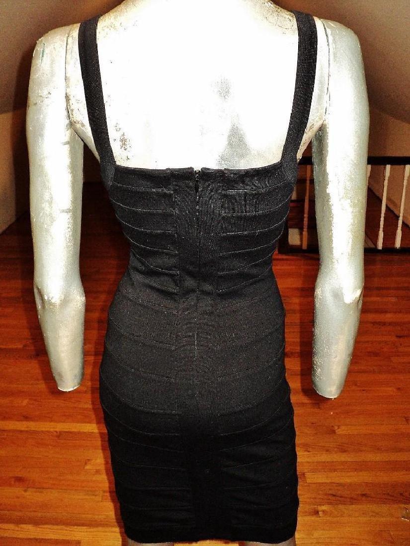 Vintage Body Con Herve Leger Style Bandage Dress - 6