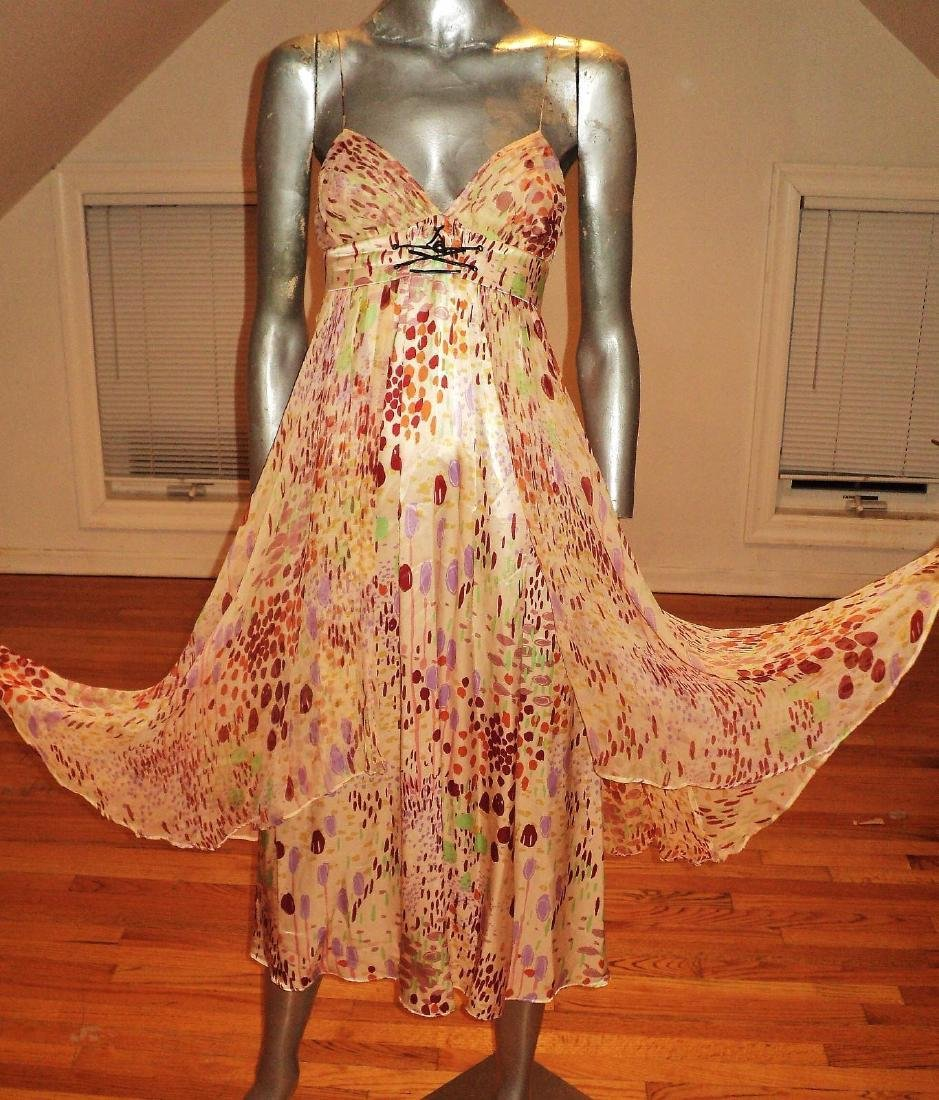 Anthropologie Twinkle Silk Chiffon High Low Dress