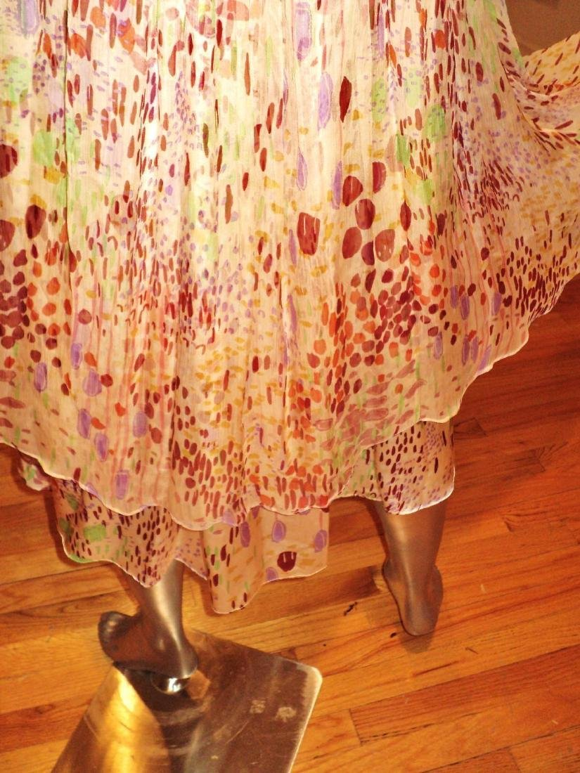 Anthropologie Twinkle Silk Chiffon High Low Dress - 2