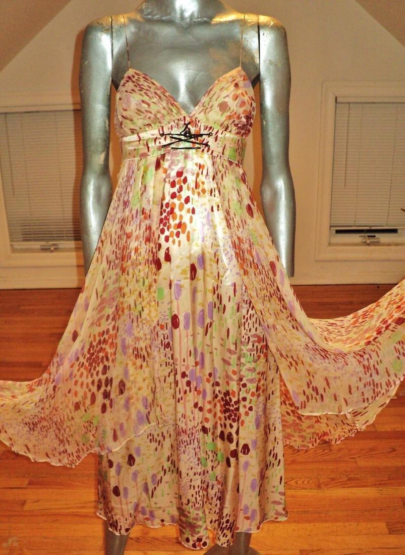Anthropologie Twinkle Silk Chiffon High Low Dress - 4