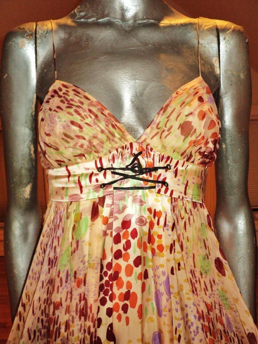 Anthropologie Twinkle Silk Chiffon High Low Dress - 5