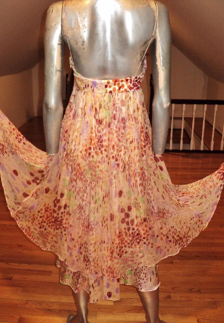 Anthropologie Twinkle Silk Chiffon High Low Dress - 6