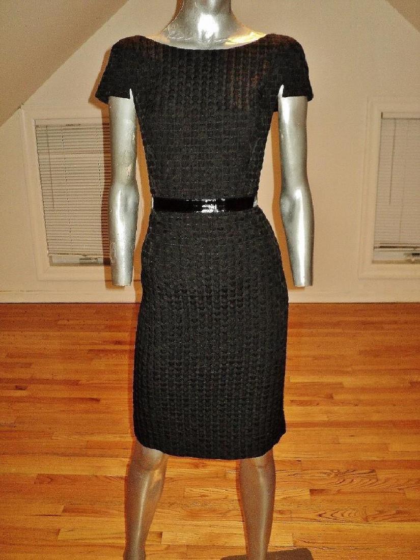 Vintage Carmen Marc Valvo Puckered Wiggle Dress
