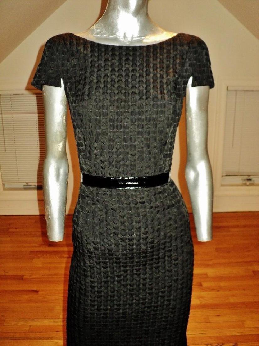 Vintage Carmen Marc Valvo Puckered Wiggle Dress - 2