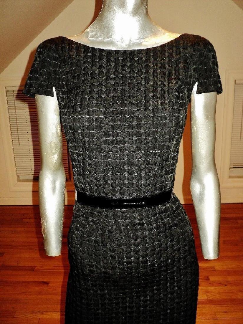 Vintage Carmen Marc Valvo Puckered Wiggle Dress - 4