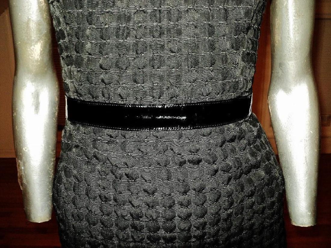 Vintage Carmen Marc Valvo Puckered Wiggle Dress - 5