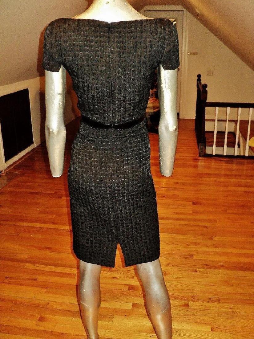 Vintage Carmen Marc Valvo Puckered Wiggle Dress - 6