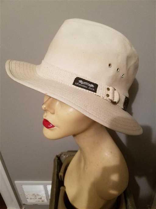 Vintage Panama Jack Canvas Safari Fedora Hat on LiveAuctioneers aa582b92d8f