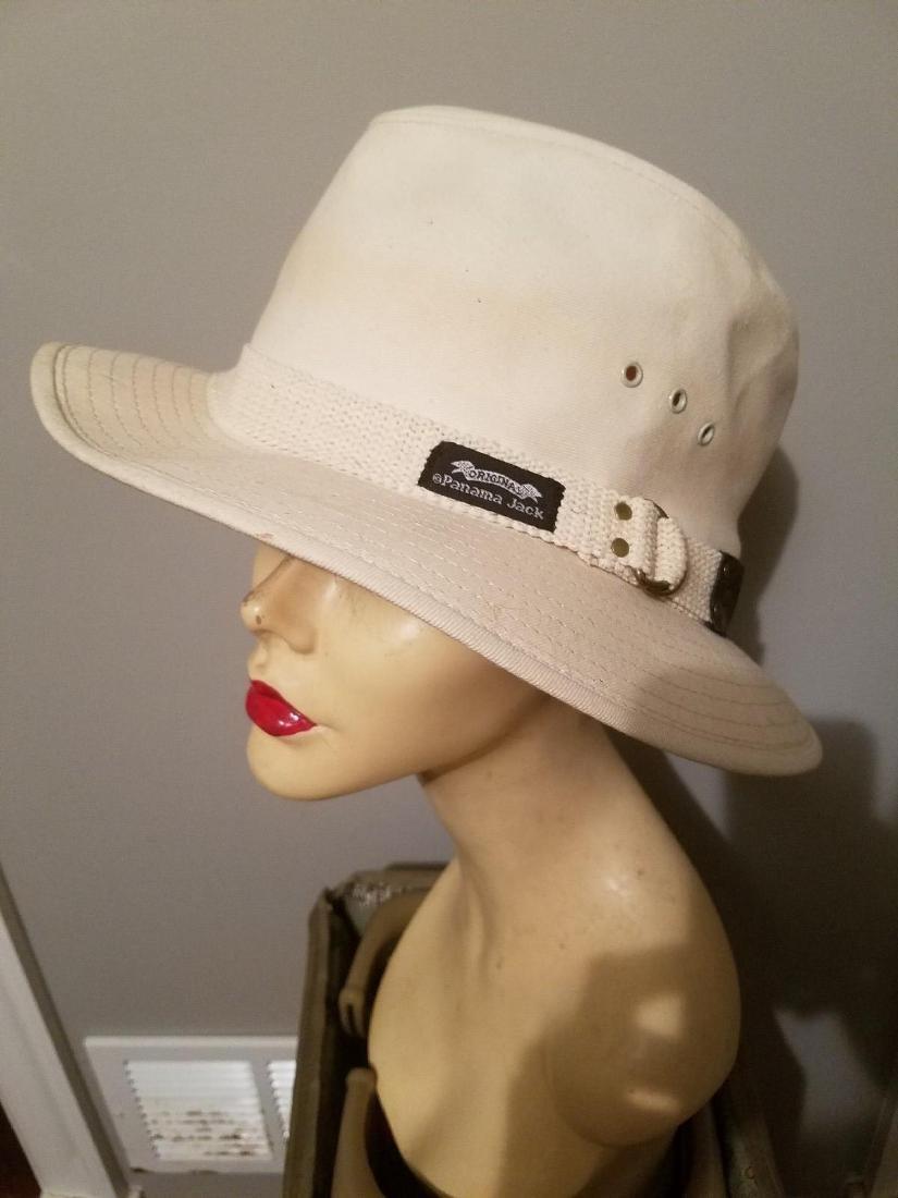 Vintage Panama Jack Canvas Safari Fedora Hat