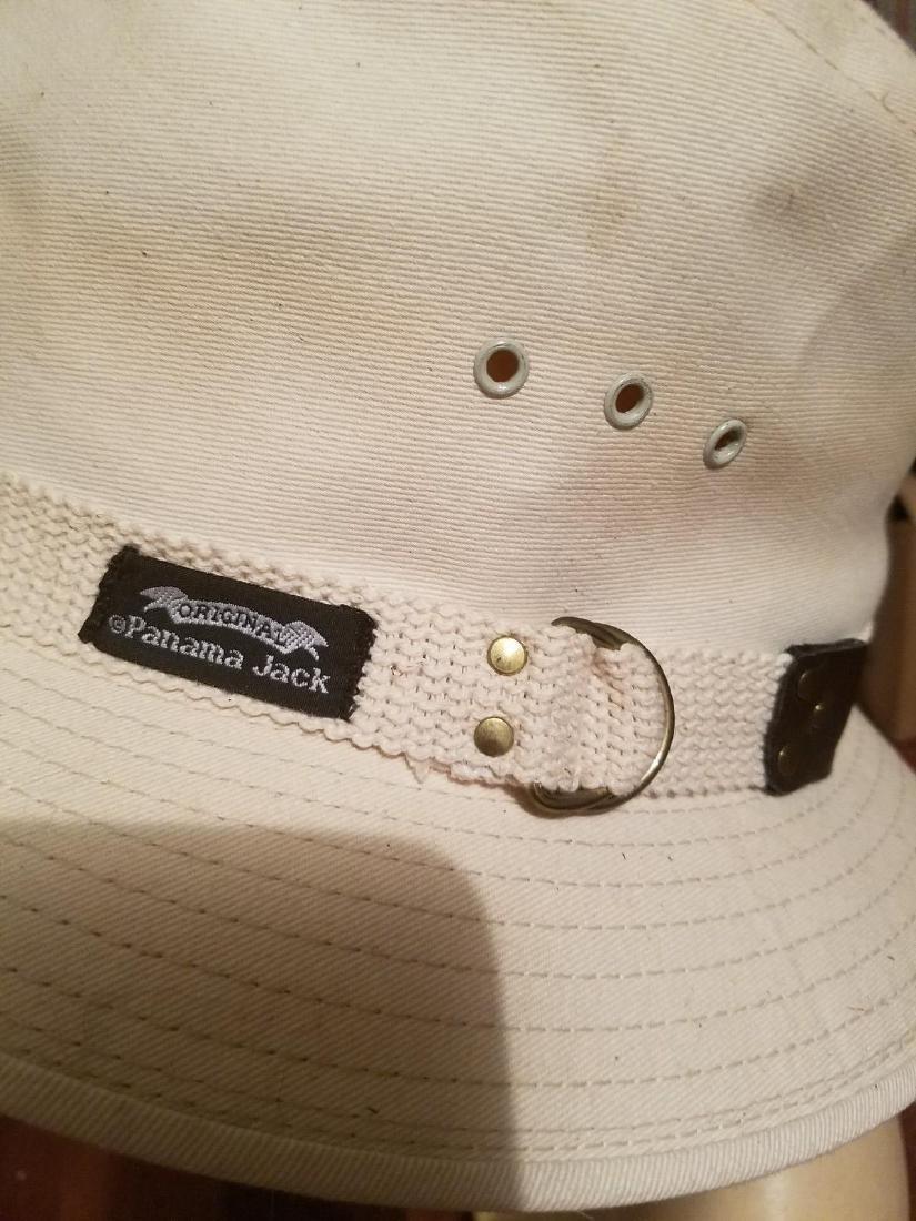 Vintage Panama Jack Canvas Safari Fedora Hat - 2