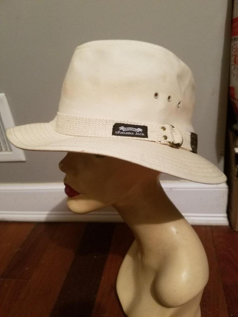 Vintage Panama Jack Canvas Safari Fedora Hat - 6