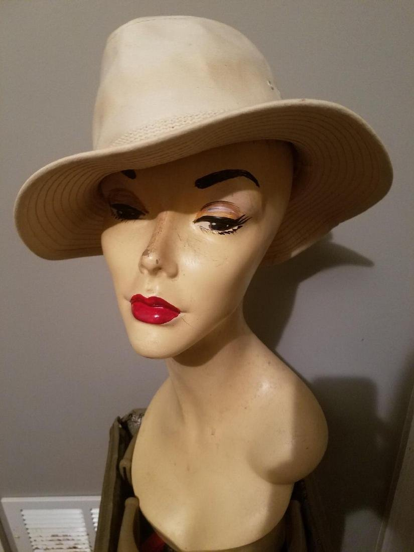 Vintage Panama Jack Canvas Safari Fedora Hat - 7