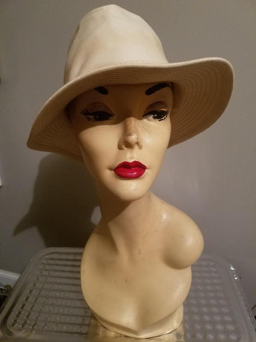 Vintage Panama Jack Canvas Safari Fedora Hat - 8