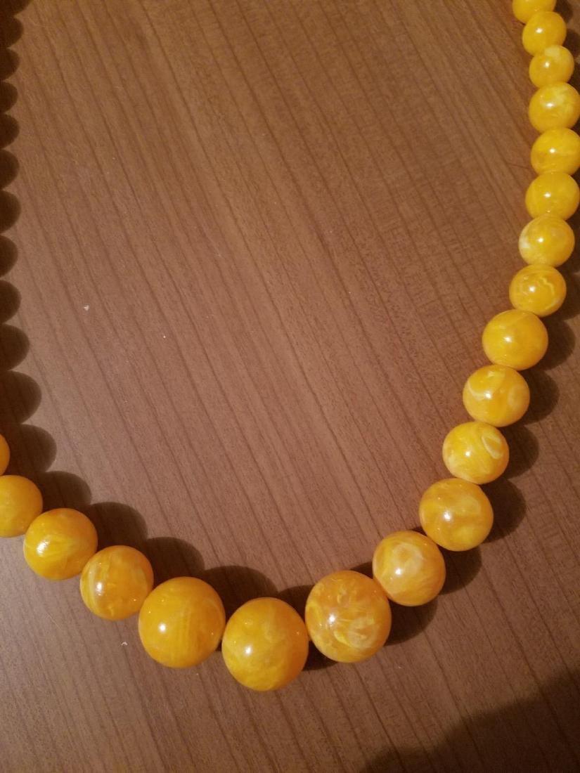 Vintage 1940'silk Celluloid/bakelite Necklace - 4