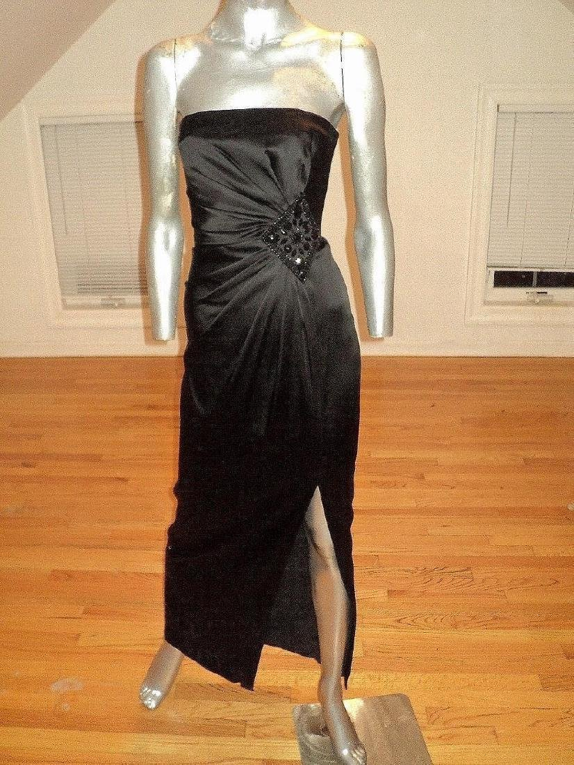 Vintage Vamp Soie Strapless Gown Gathered Side