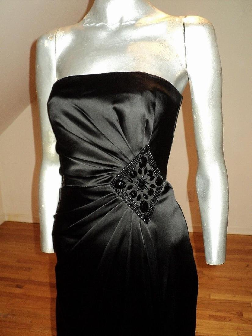 Vintage Vamp Soie Strapless Gown Gathered Side - 4