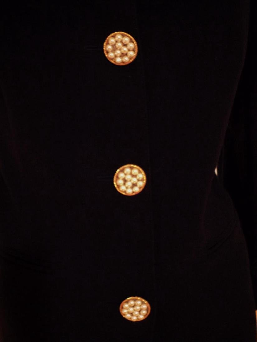 Couture Ecaille Paris French Jacket Wool With Pearls - 3
