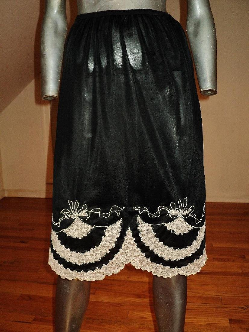 Vintage 1950's Nylon and Embroidered French Lace Slip