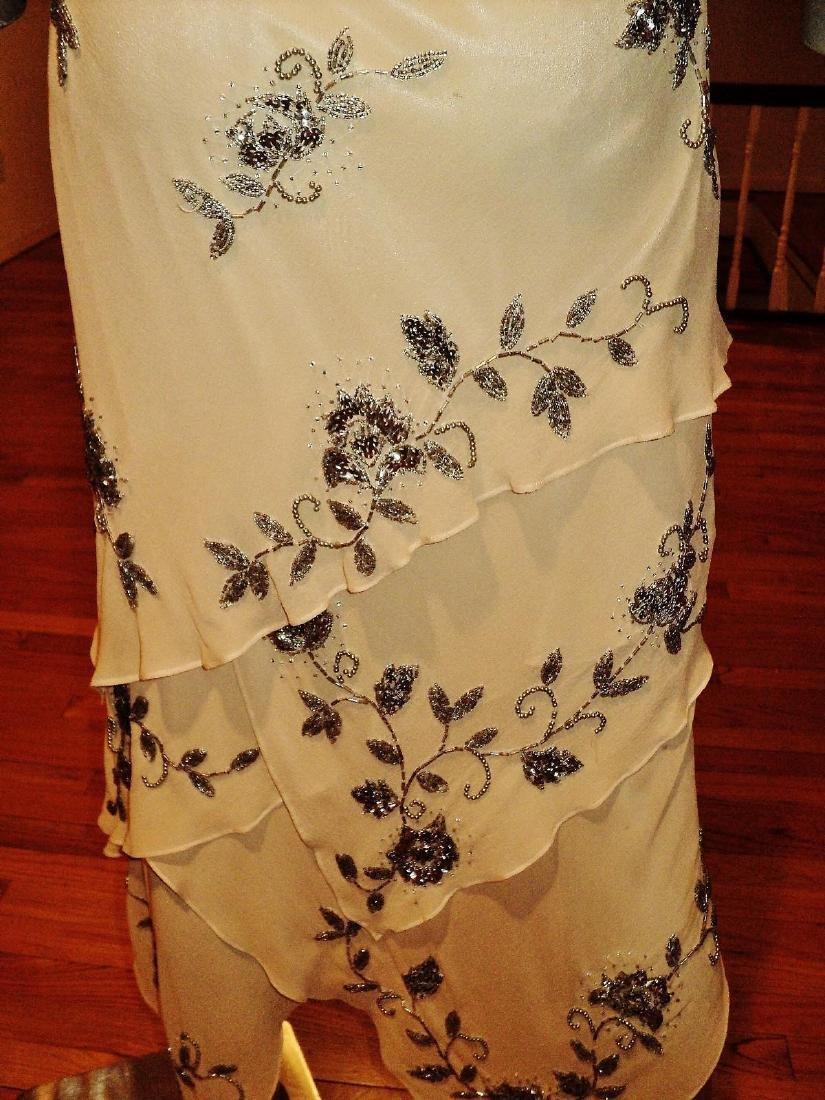 Vintage Sue Wong Layered Silk Handkerchief Dress - 10