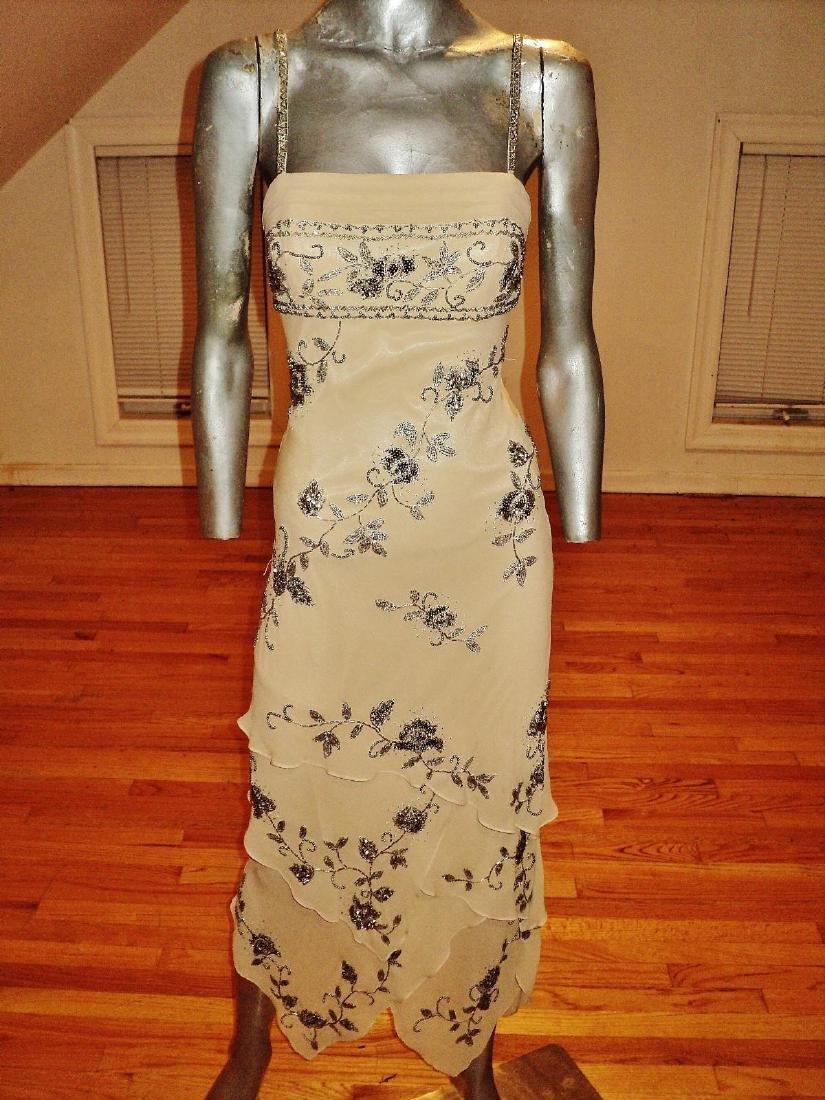 Vintage Sue Wong Layered Silk Handkerchief Dress