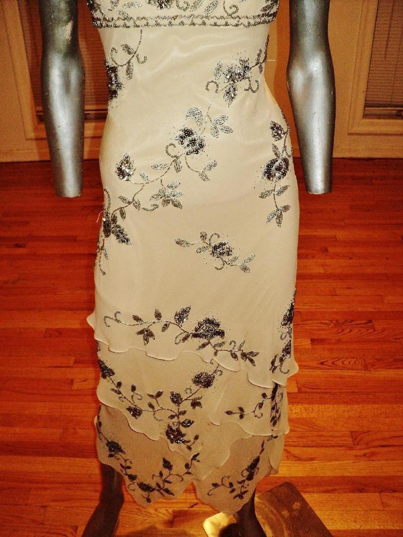 Vintage Sue Wong Layered Silk Handkerchief Dress - 5