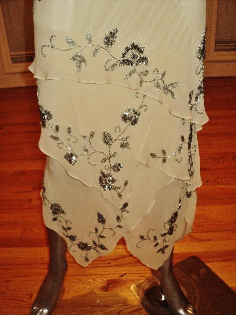 Vintage Sue Wong Layered Silk Handkerchief Dress - 6